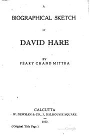 Cover of: David Hare