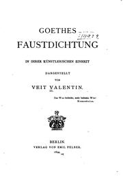 Cover of: Goethes Faustdichtung