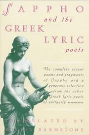 Cover of: Sappho and the Greek lyric poets |