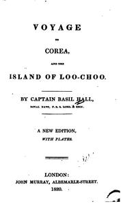 Cover of: Voyage to Corea, and the island of Loo-Choo
