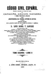 Código civil español by Spain.