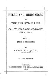 Cover of: Helps and hindrances to the Christian life | Francis Edward Paget