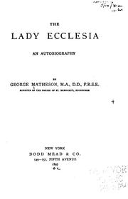 Cover of: The Lady Ecclesia | Matheson, George