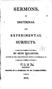 Cover of: Sermons, on doctrinal and experimental subjects