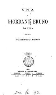Cover of: Vita di Giordano Bruno da Nola
