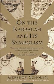 Cover of: On the Kabbalah and its symbolism | Gershom Scholem