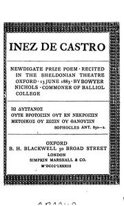 Cover of: Inez de Castro | Bowyer Nichols