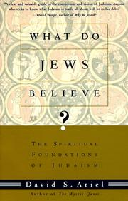 Cover of: What Do Jews Believe?