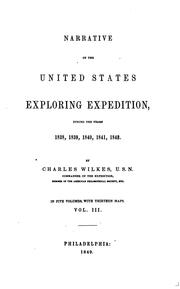 Cover of: Narrative of the United States exploring expedition