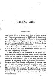 Cover of: Persian art | Smith, R. Murdoch Sir