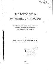 Cover of: The poetic story of the hero of the ocean | Horace Stillman