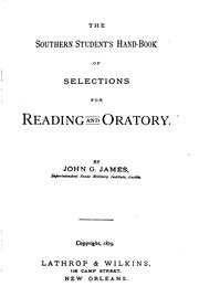Cover of: Southern student's hand-book of selections for reading and oratory