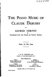 Cover of: The piano music of Claude Debussy