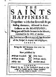Cover of: The saints happinesse