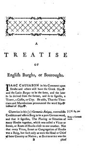 An historical treatise of cities and burghs or boroughs by Brady, Robert