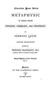 Cover of: Metaphysic