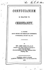 Cover of: Confucianism in relation to Christianity