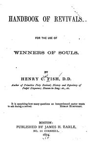 Cover of: Handbook of revivals
