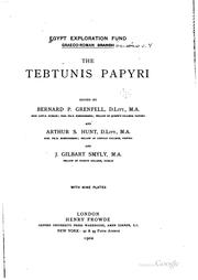 Cover of: The Tebtunis papyri ..