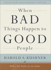 Cover of: When bad things happen to good people : with a new preface by the author