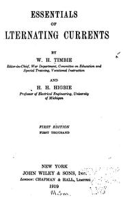 Cover of: Essentials of alternating currents