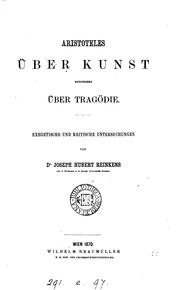 Cover of: Aristoteles über Kunst