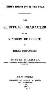 Cover of: Christ's kingdom not of this world