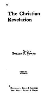 Cover of: Christian revelation | Bowne, Borden Parker
