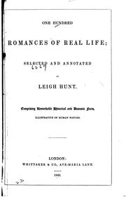 Cover of: One hundred romances of real life
