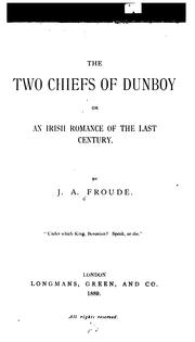 Cover of: two chiefs of Dunboy | James Anthony Froude