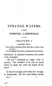 Cover of: Strange waters