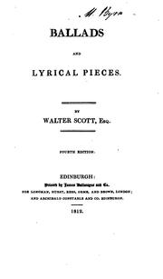 Ballads and lyrical pieces by Sir Walter Scott