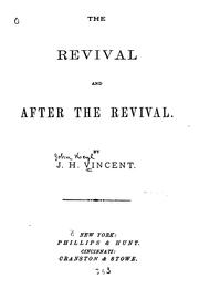 Cover of: revival and after the revival. | John Heyl Vincent