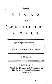 Cover of: The vicar of Wakefield | Oliver Goldsmith