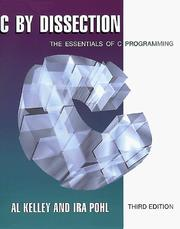 Cover of: C by dissection | Al Kelley