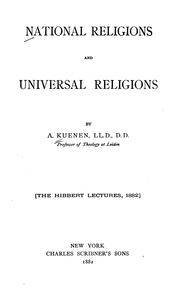 Cover of: National religions and universal religions | Abraham Kuenen