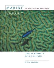 Cover of: Marine biology