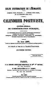 Cover of: Calendrier positiviste