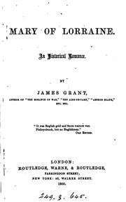 Cover of: Mary of Lorraine | Grant, James
