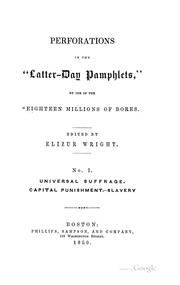 Cover of: Perforations in the Latter-day pamphlets