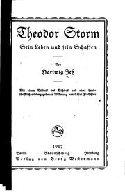 Cover of: Theodor Storm, zum 14. September 1917