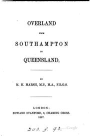 Overland from Southampton to Queensland.