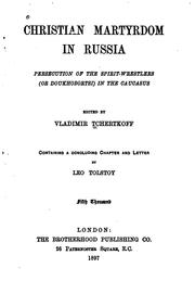 Christian martyrdom in Russia by V. G. Chertkov