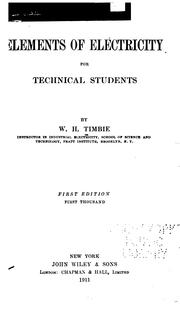 Cover of: Elements of electricity for technical students