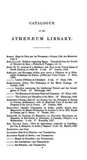 Cover of: catalogue of the library of the Athenæum. | AthenГ¦um Club (London). Library.