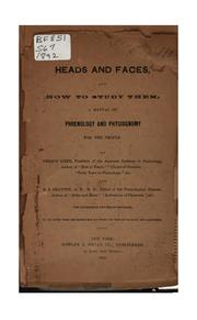 Heads and faces, and how to study them