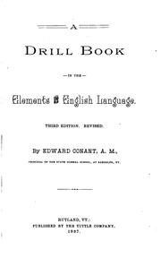 Cover of: A drill book in the elements of the English language
