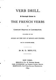 Cover of: Verb drill