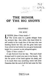 Cover of: The Honor of the Big Snows