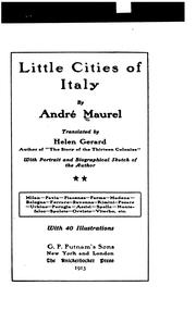 Cover of: Little cities of Italy
